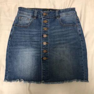 Indigo Rein Button up denim skirt